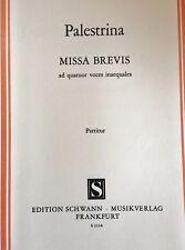 Palestrina - Missa Brevis - ad quatuor voces inaequales
