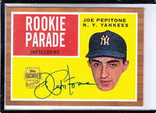 "2001 TOPPS ARCHIVES JOE PEPITONE  ""NEW YORK YANKEES"" AUTO AUTOGRAPH"