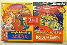 Magic School Bus Lands On Mars & Explores Inside The Earth WIN PC MAC 2 PacK NIB