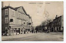AMBERIEU EN BUGEY  AIN CPA 01 l'avenue de la gare Hotel restaurant LE TERMINUS