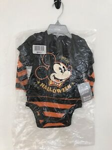 New Disney Baby Mickey Mouse 1st Halloween Bodysuit  9-12 months with tag
