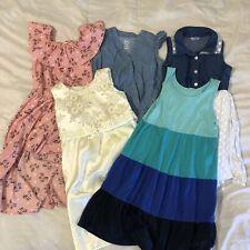 Girl's Spring Dress Romper 5 Pc Bundle Lot Size 6X Pink Unicorn Chambray Lace
