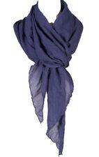Plain Color cotton wrinkle Linen scarf , all season scarf, royal blue color