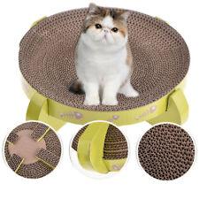Cat Scratcher Bed Round Cardboard Kitty Scratching Pet Toy Furniture + Cat mint
