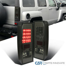 For Hummer 05-10 H3 LED Smoke Lens Tail Lights Tinted Brake Stop Rear Lamps Pair