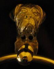 DOGUE DE BORDEAUX, FRENCH MASTIFF, Bronze Towel Ring!