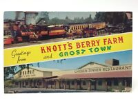 Knott's Berry Farm Ghost Town California Posted Written On Postcard E476x