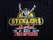RARE Vtg 70s 80s NFL Superbowl Pittsburgh Steelers Thin T Shirt Medium L