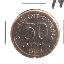 CIRCULATED 1971 50 RUPIAH INDONESIAN COIN (62716).....FREE DOMESTIC SHIPPING!!!!