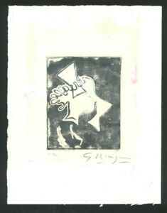 GEORGES BRAQUE Old Etching - Hand signed in pencil -