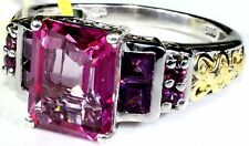 Pure Pink Mystic Topaz, Orissa Rhodolite Garnet Ring (Size 9) TGW 5.25 Cts
