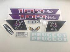 kit autocollant peugeot 103 mvl pink REF:MOB055