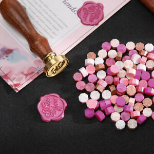 170pcs Sealing Wax Pills Vintage Seal Stamp Beads Grains for Wedding Mixed Color