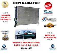 FOR RENAULT MEGANE COUPE DA0/1 Mk I 1.4 1.6 1.8 1.9 2.0 1996>2003 NEW RADIATOR