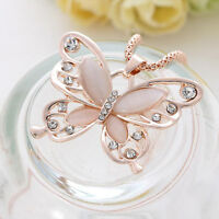 Schmuck Rose Gold Opal Schmetterling Anhänger Pullover Kette Halskette Jewelry.