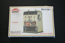 MODEL POWER 1537 KIT MOVIES MOVIE THEATER N SCALE NEW OLD STOCK
