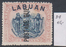 North Borneo 1897 Fiscal Ovpt. Rare & Scarce! MiD9 45 Euro MH*