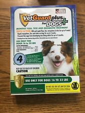 VetGuard Plus 4 Month Flea Tick & Mosquito Treatment Medium Dog 16-33 lbs New