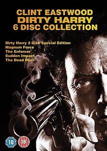 DIRTY HARRY 1-5  COLLECTION 1 2 3 4 5 CLINT EASTWOOD UNCUT DVD DEUTSCH