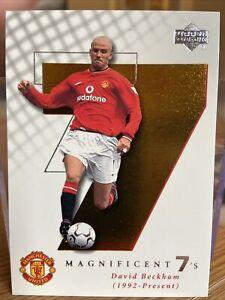 David Beckham   Manchester Utd 2001 Upper Deck   Magnificent 7's . M7