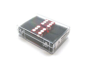 Case of 2 Large 19mm Transparent Non-Precision Dice - Red with White Pips