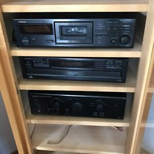 Onkyo Stereoanlage Bausteine 2x80Watt Verstärker+6fach CD-Wechsler+Kassettendeck
