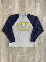 Vintage Champion Long Sleeve Sz L/XL 90s Athletic Spell Out Rare