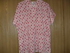 ladies size (M) handmade short sleeve red hearts scrub top