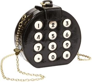 Betsey Johnson Round Phone Dial Clutch