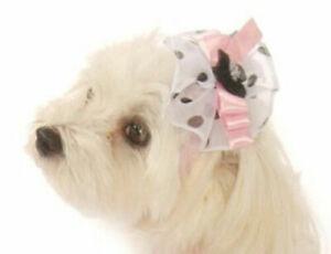 Dog Hair Bow by Doggie Design Puppy Designer Head Piece or Use on Collar