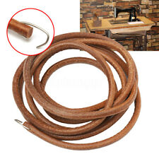 72'' Leather Treadle Belt Parts+Hook For Singer Sewing Machine 3/16'' Dia Hot US