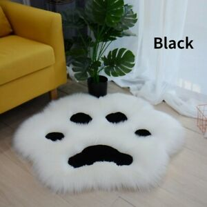 Cat Paw Shaped Floor Blanket Faux Fur Cushion Pad Fluffy Area Rug Sofa Mat