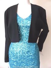 HOTLINE BY CHERYL T. Vintage Black Bolero Jacket Made in Australia Size 12 US 8