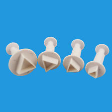 4Pcs Triangle Cake Plunger Mold Cookie Cutter Fondant Decoration Tool Sugarcraft