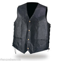 Gilet jacket en cuir - M à 2XL - Pour biker country custom / Leather biker vest