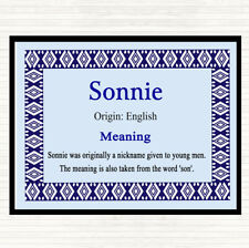 Sonnie Name Meaning Dinner Table Placemat Blue