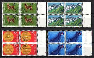 Suiza, año 1976, serie completo en bloque de cuatro, usado, Michel-€ 8,00 (K105)