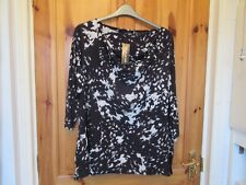 "BNWT Size 24 Cowl neck Designer Top""App 54 inch Underarm""Approx 28 inch length"""