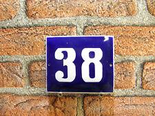 Outdoor House Number Vintage Enamel Sign Door Number 38 Address Sign For House