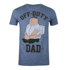 Official Family Guy Mens T-Shirt - Off Duty Print - Fathers Day - Indigo Blue