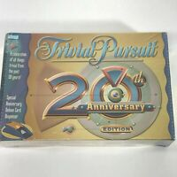Vintage Trivial Pursuit 20th Anniversary Edition Board Game 2002 Parker Brothers