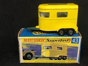 Matchbox Superfast MB43 A2 Horse Trailer (w Horses) & Type G Box