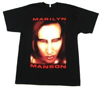 Marilyn Manson Big Face Jumbo Bigger Than Satan Black T Shirt New Official Merch