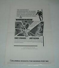 HAMMERHEAD 1968 MOVIE PROMO PRESS BOOK VINCE EDWARDS JUDY GEESON DIANA DORS