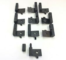 Lot of 10 Narrow Profile Aluminum Extrusion Hinges Reversible Black Zinc 300lbs