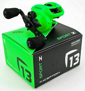 13 Fishing Inception Sport Z 7.3:1 Gear Ratio Right Hand Baitcast Reel Brand New