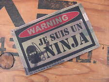 SNAKE PATCH ..:: WARNING Je suis un ninja ::.. US MULTICAM scratch Airsoft