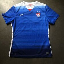 Women's Nike Authentic Uswnt World Cup Olympic Soccer Team Usa Jersey Kit Sz L