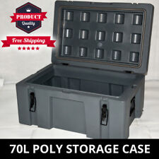 Poly Storage Case 70L Heavy Duty 700mm Poly Cargo Box Plastic Tool Box Trade Box