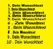 WUNSCHTEXT AUFKLEBER, Wunschfarbe Domainaufkleber Name bis ca 20 cm